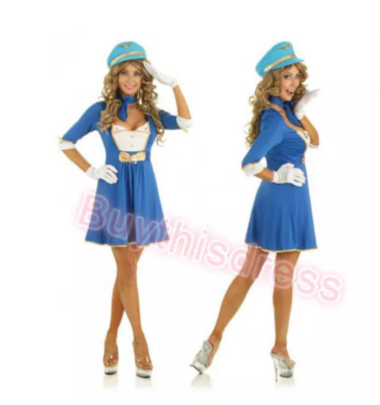 Stewardess Princess Party Dress Costume AU Size 8