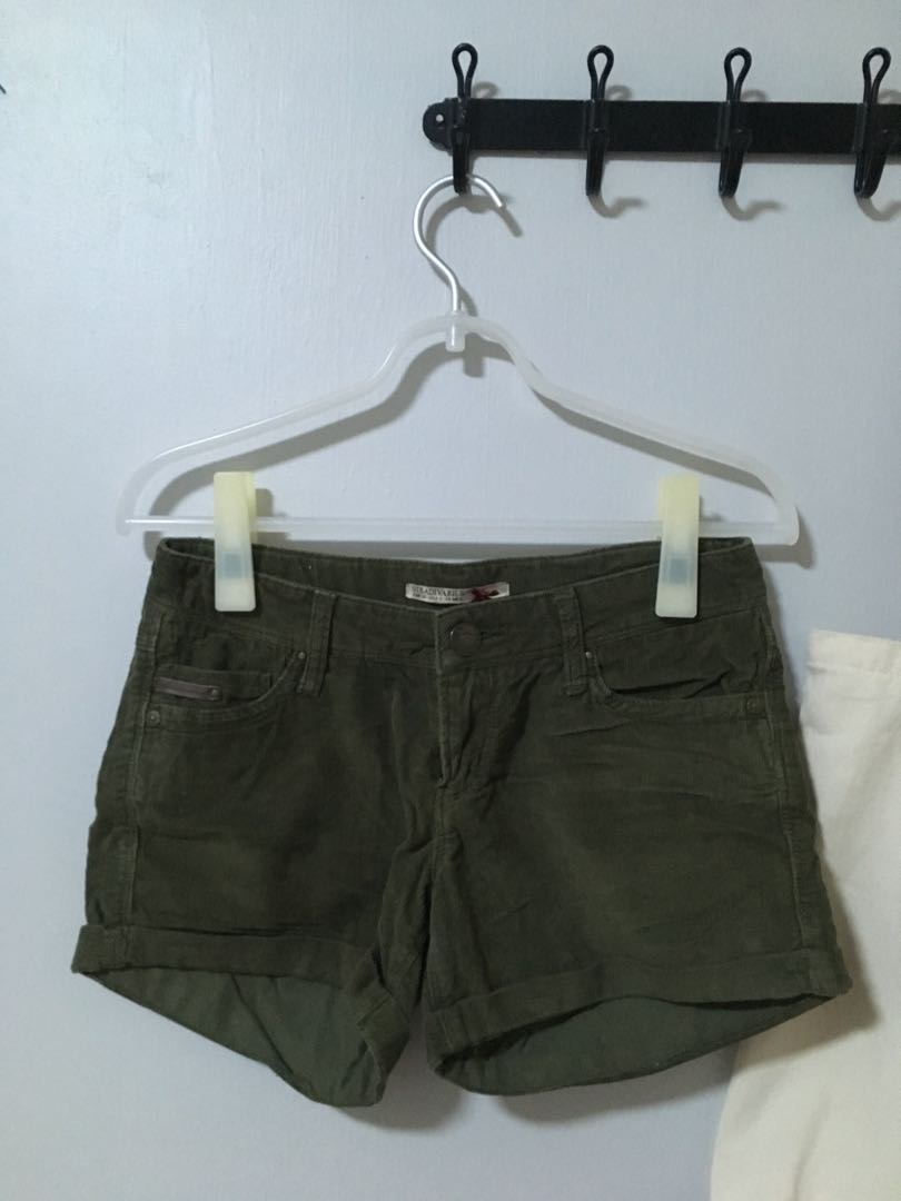 123946c87d2 Stradivarius army green corduroy shorts, Women's Fashion, Clothes ...