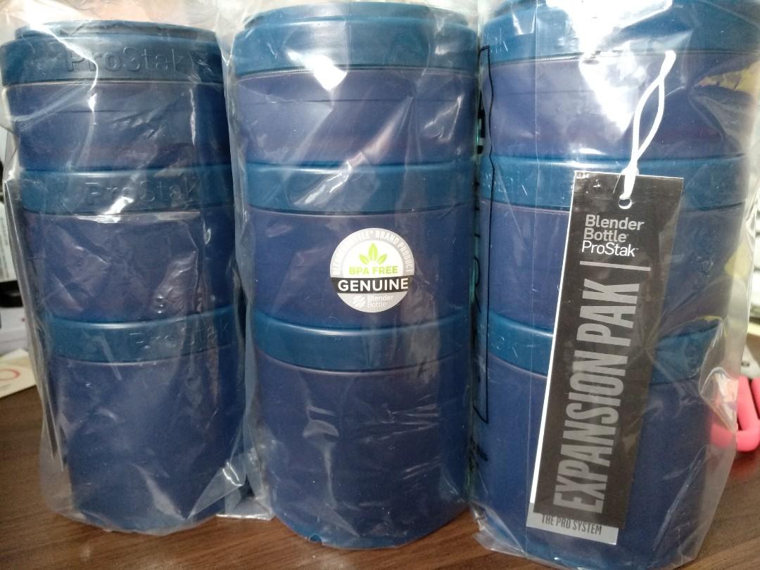 Sundesa ProStak Blender Bottle Expansion Pak 4pcs in Navy Blue *new ...