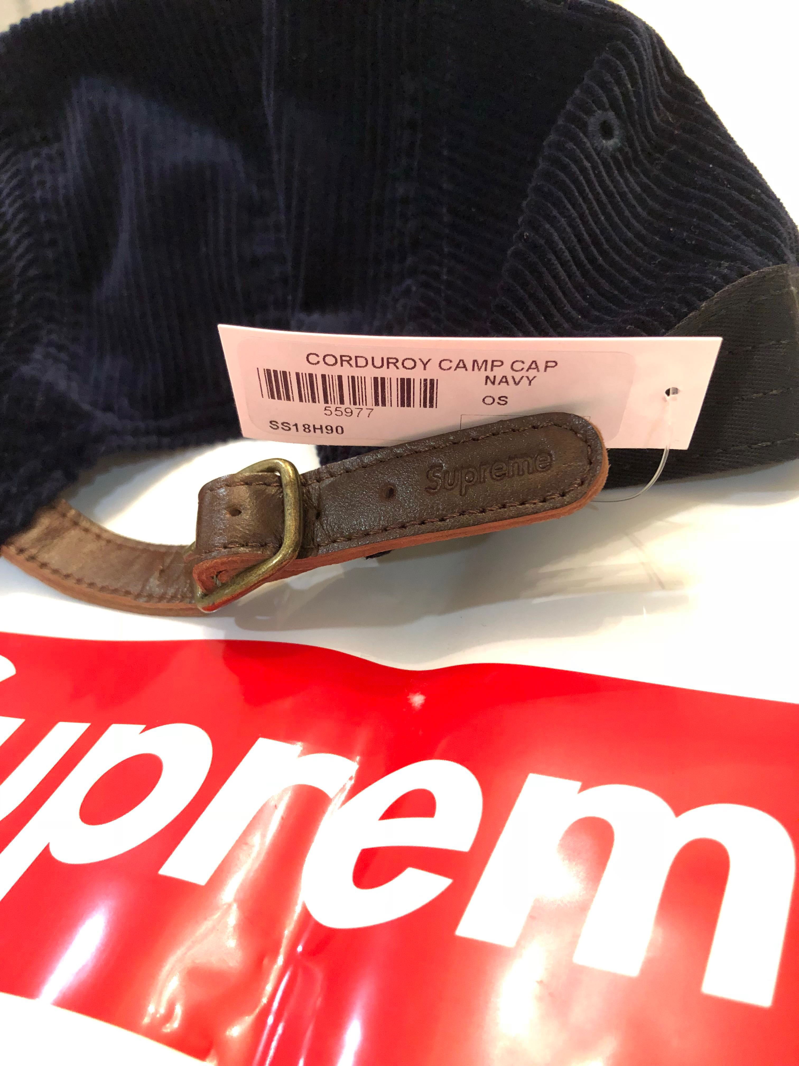 789bc10f870 Supreme navy corduroy camp cap ss18