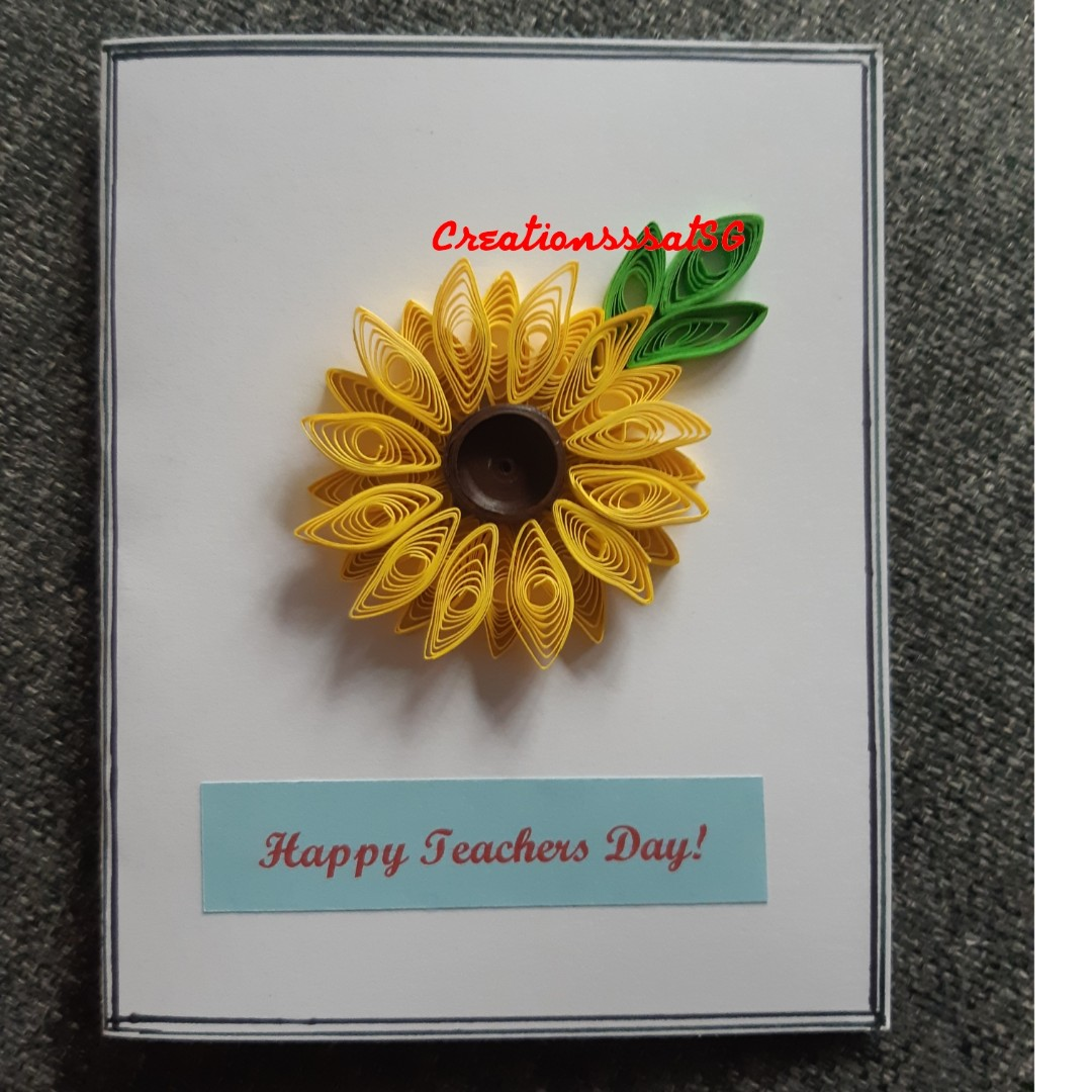 Teachers Day Handmade Cards Design Craft Handmade Craft On Carousell