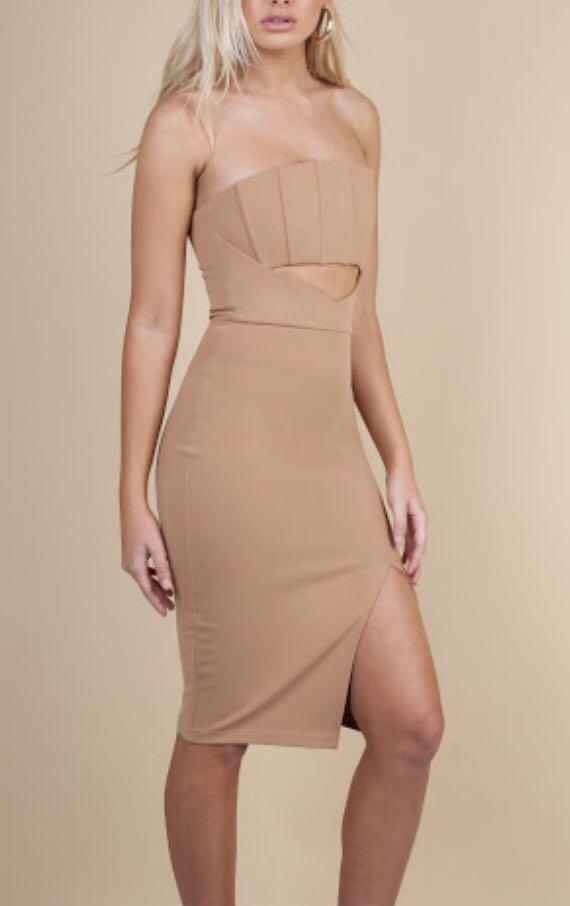 ZACHERY THE LABEL Santana Nude/Caramel Dress