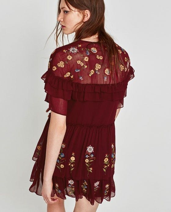 Zara Embroidered Dress Size L Xl Bnwt Women S Fashion Clothes