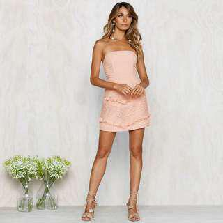 Backless Slim Bow Bandage Club Dress