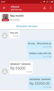 Testi sold out baju muslim