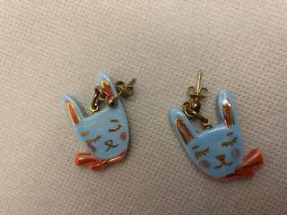 N2 mushroom 兔仔 耳環 earring