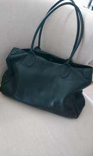 Classic black leather bag