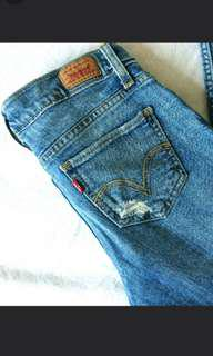 Levi's ripped jeans size 1 or 25