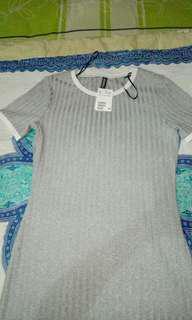 HM grey dress