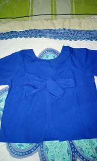 Blue ribbon top