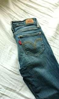 Levi's size 0 steel wash skinny jeans