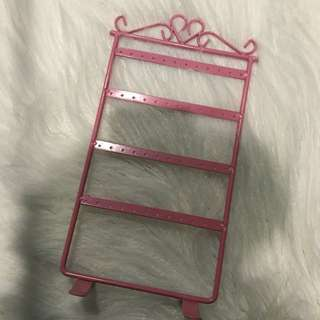 Pink Earring Stand