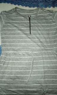 Grey stripe dresa