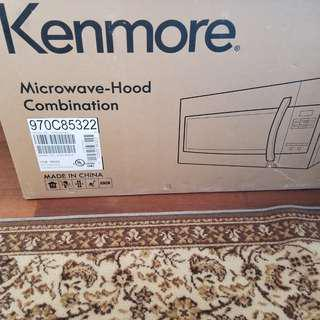 Bnib Kenmore microwave and hood
