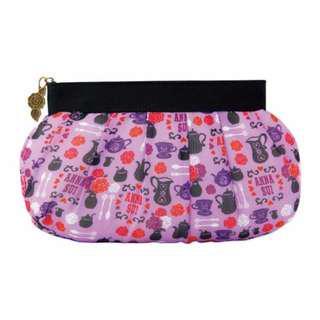 FUN 日雜~ 浪漫神秘紫色蔷薇 午茶淑女 收納包 化妝包 手拿包