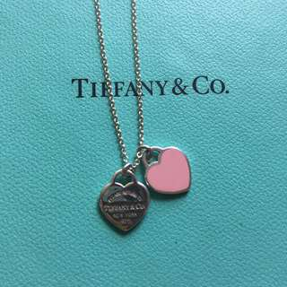 Tiffany's Mini Double Heart Tag Pendant