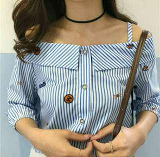 Off Shoulder Cute Korean Top
