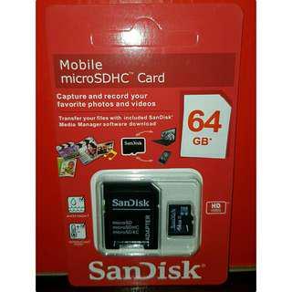 64gb SanDisk micro sd (Class 10)