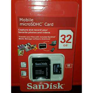 32gb SanDisk micro sd (Class 10)