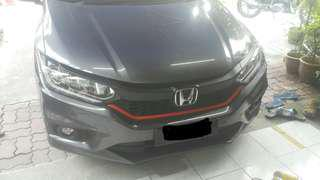 Grill wrap black matte + red lining