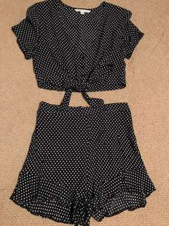 American Eagle Polka Dot Set