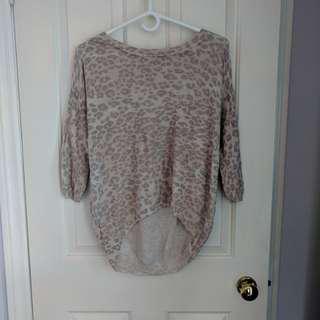 Aritzia Wilfred Sweater (pink leopard) - S