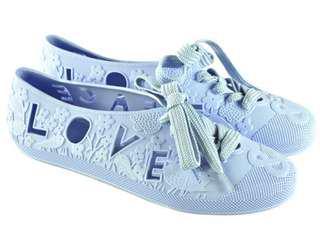 2⃣️🖐🏻F Troupe bathing shoes 英國果凍鞋💙Baby blue 粉嫩藍Love & Peace 洞洞雨鞋