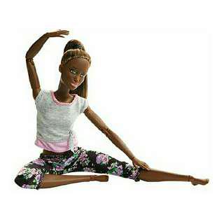 Barbie Made To Move Doll - Dark Skin