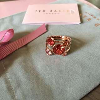 (NEW) Ted Baker Swarovski Crystal 3 Rings Set