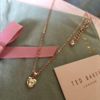 (NEW) Ted Baker Swarovski Crystal Heart Necklace