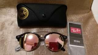 Ray Ban original RB 4346 BLACK FRAME PINK LENS,