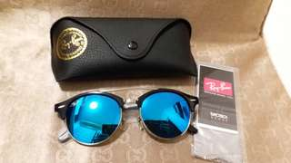 Ray Ban original RB 4346 BLACK FRAME BLUE LENS