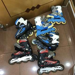單排滾軸溜冰鞋三對