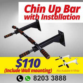 Chin up bar with installation!