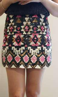 Beautiful Sequin Short Skirt