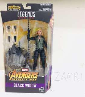 Marvel Legends Black Widow Avengers Infinity War with BAF