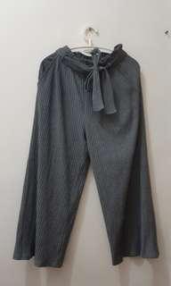 GU uniqulo size L grey pants 闊腳褲