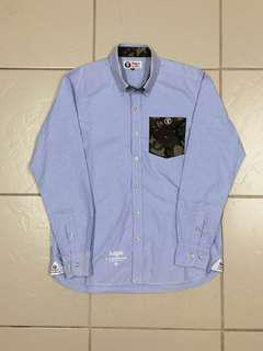 AAPE by BAPE Camo Pocket Oxford Button Up Longsleeves