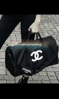 有2色⚫⚪Chanel VIP gift travel bag gym bag shopping bag 旅行袋