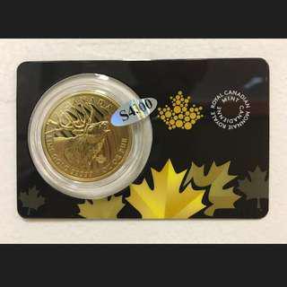 Rare Canada 1 oz Gold Bullion Coin 5x9, Call of the Wild Roaring Elk .99999 BU