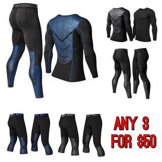 Hyperlight reflective pro combat compression tights