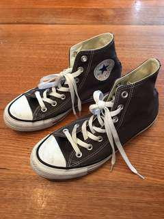 PRICE NEGOTIABLE Unisex Converse all star dark grey