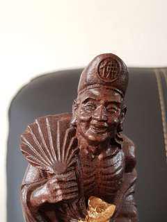 JiGong wood statue