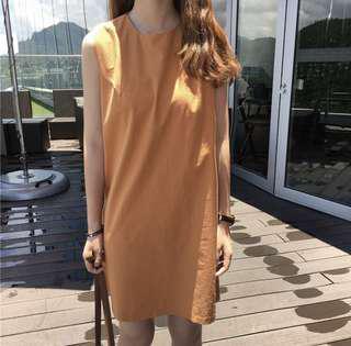 💁🏼♀️韓款橙色連身裙 #優雅 #斯文 #簡約 #樸素 #型格