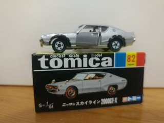 全新絕版tomica 黑黃盒 Nissan skyline 2000 GT-X