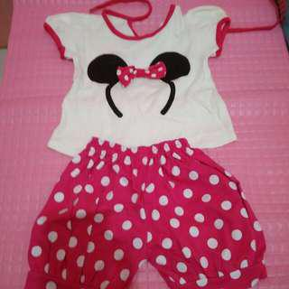 Setelan Mickey Mouse Pink