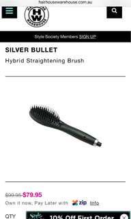 Silver bullet straightener