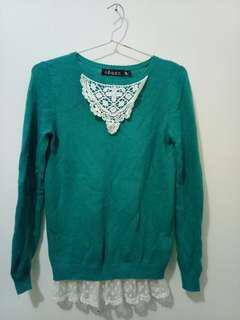 Sweater green korea