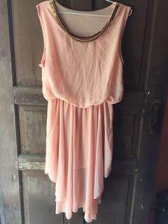 midi dress pink salem