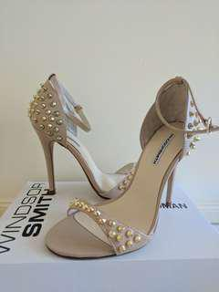 NEW Windsor Smith Nude Spiked Heels with Strap